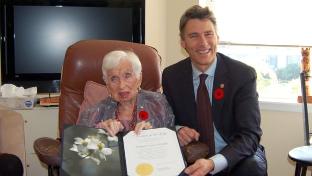 Women's rights advocate Margaret Mitchell was honoured with a Freedom of the City Award in 2016.