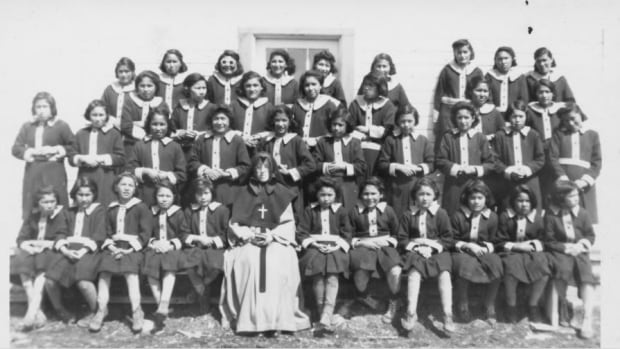 Students from St. Anne's Indian residential school in an undated photo.