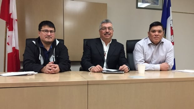 Inuvialuit Regional Corporation Chair Duane Smith, N.W.T. MP Michael McLeod, and Gwich'in Tribal Council Vice President Jordan Peterson, were in Inuvik on Tuesday to announce the new funding.