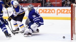 Rested Leafs run out of steam, lose to Blues in OT