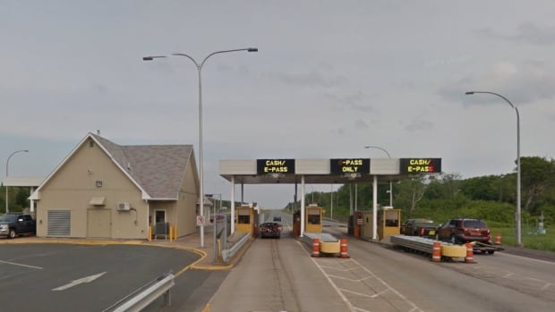 Toll booths in the Cobequid Pass.