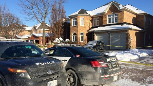 Police investigating after two bodies were found in home west of Toronto