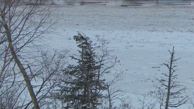 Float plane hangars were partially submerged in rising waters of Deer Lake on Wednesday.