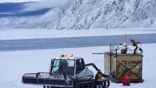 Dawson City ice bridge 2018