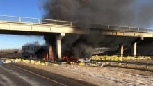 Leduc RCMP overpass crash