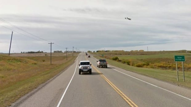 A small plane clipped the power lines along Highway 2A on Tuesday, causing a power outage in the area.