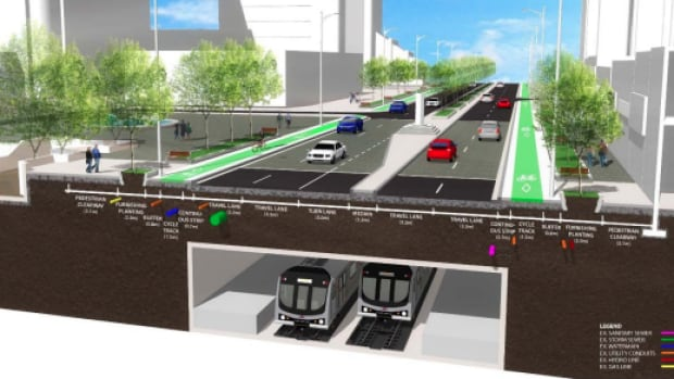 A Yonge Street with fewer lanes for cars and raised lanes for bicycles? That's the vision for Willowdale that's being recommended by city staff.