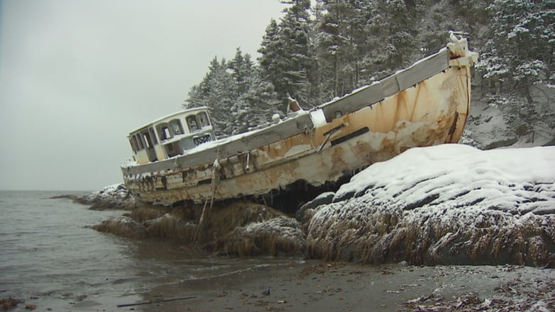 frustration grows over derelict boat rusting away on south
