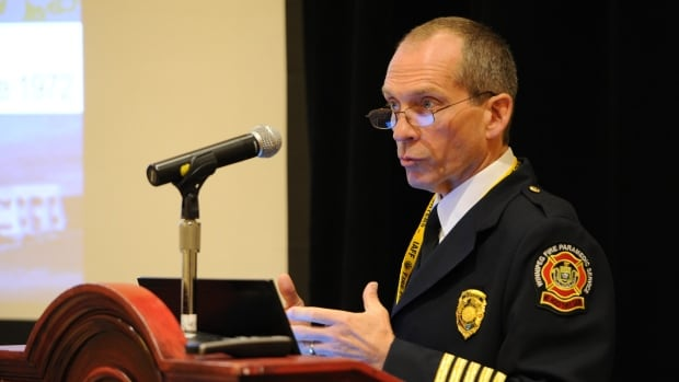 Winnipeg Fire Paramedic chief John Lane — seen here at the 2015 IAFF Redmond Symposium — has spent 135 days away to attend 36 out of province conferences since taking the job in 2014.