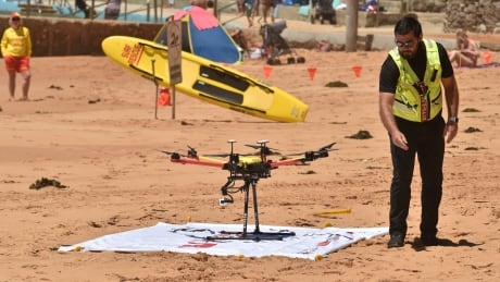 Drone Rescues Swimmers World First