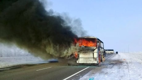Bus fire in Kazakhstan kills 52 along route used by migrant workers