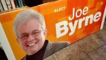 Joe Byrne NDP campaign sign
