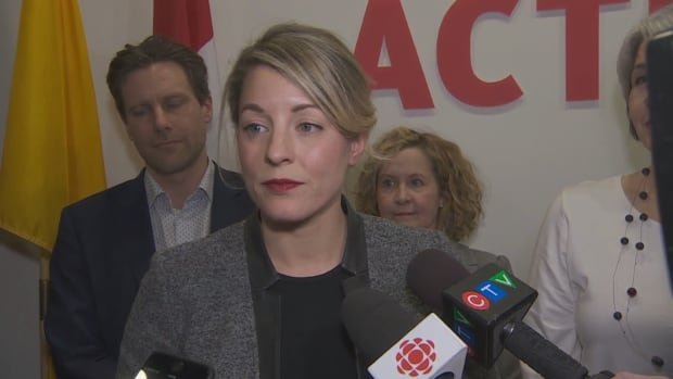 Heritage Minister Melanie Joly speaks to the media after a meeting with entertainment industry stakeholders on Wednesday.