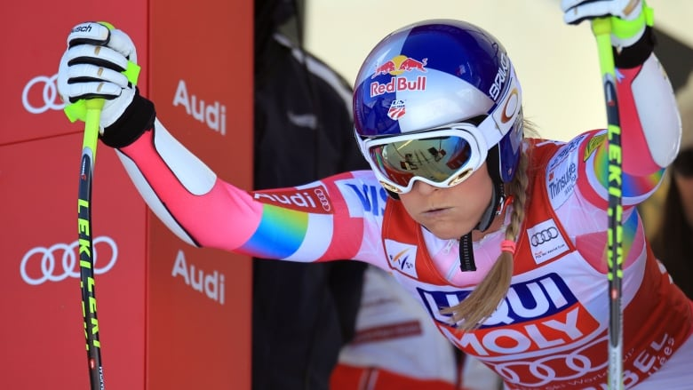 Lindsey Vonn ready to attack in Captain America suit  8dba70993