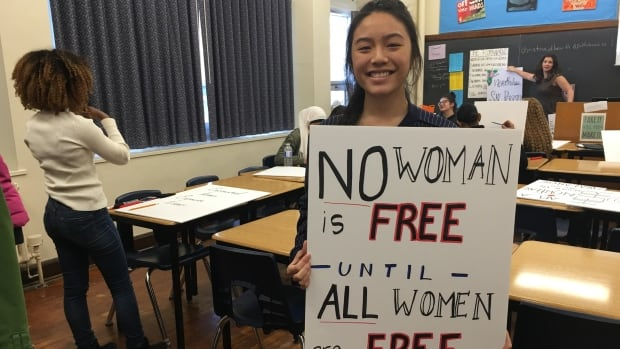 """""""All women should be free, not just a specific race, specific class, not one kind of women should be free and leave the rest to be oppressed,"""" Lin said."""