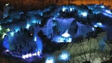 Here's what Winnipeg's Ice Castles look like from above