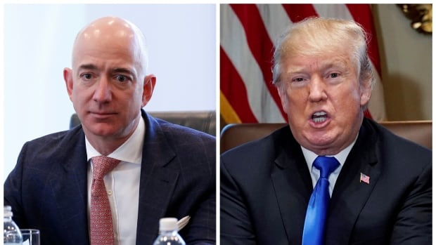 Amazon CEO Jeff Bezos has publicly clashed with U.S. President Donald Trump, and a possible decision to bring jobs and investment outside the U.S. is unlikely to smooth those relations.