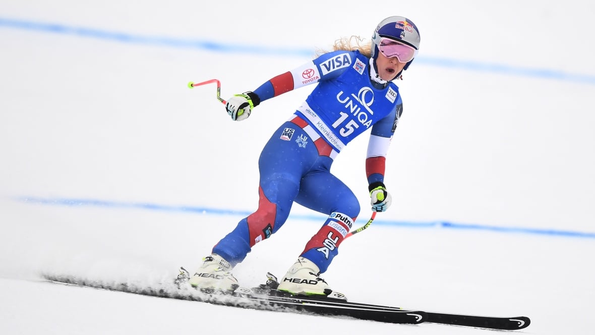 Lindsey Vonn, Mikaela Shiffrin share a race podium for the first time