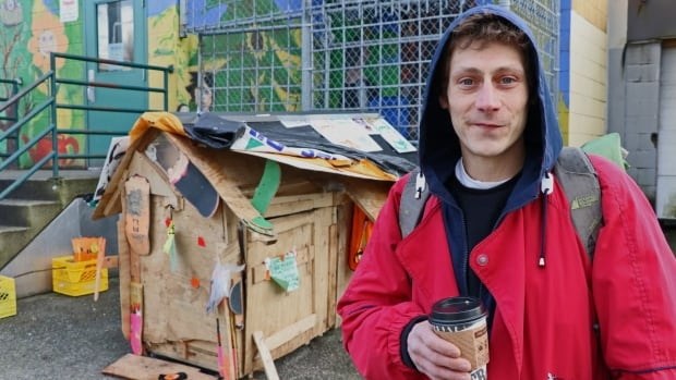 John Fredericks built his home after sleeping on cardboard under trees for a few weeks.
