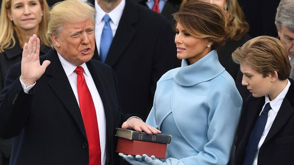 U.S President-elect Donald Trump is sworn in as President on January 20, 2017 at the US Capitol in Washington, DC.