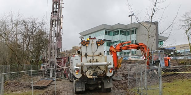 Drilling at VIU for coal mine geoexchange project