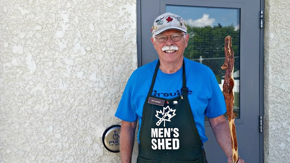 Doug Mackie of the men's shed movement in Manitoba.