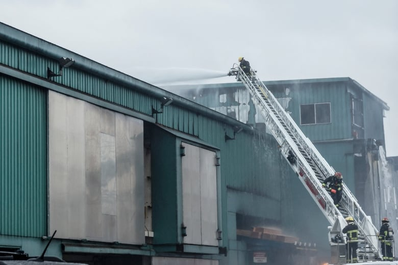 Fire contained, 3 workers treated at large sawmill blaze in south