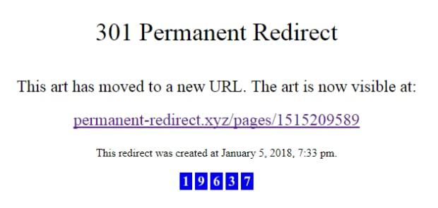 Permanent redirect