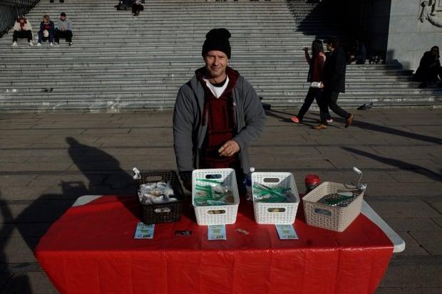 Robson Square cannabis vendor