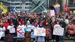 Thousands gather in Vancouver for women's march