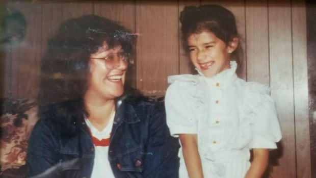 Joyce Semmler, left, shares a laugh with her daughter Lesa. Lesa says she would have been around seven-years-old when this photo was taken.