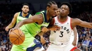 Wiggins leads limping Wolves over Raptors