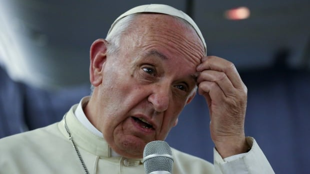 Pope Francis took questions from journalists on board the plane during his flight to Rome on Sunday, after a trip to Chile and Peru.