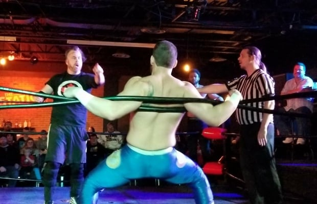 Brian White wrestling