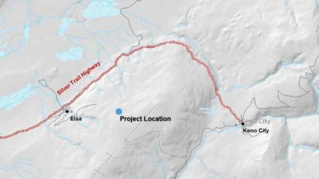 Alexco Resource Corp.'s Bermingham deposit is approximately 6.8 kilometres from Keno City, Yukon.