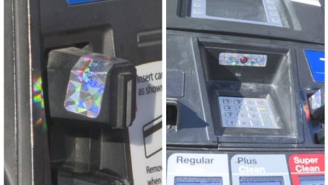 Holographic decals added to some Calgary gas pumps to fight skimming