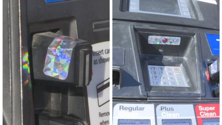 Holographic decals added to some Calgary gas pumps to fight