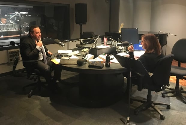 David Frum in studio with AMT The Current