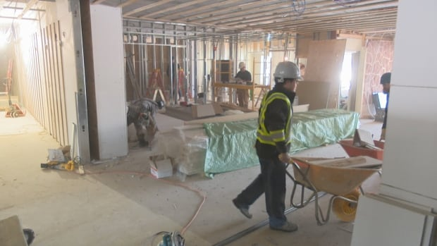 Mill River resort interior construction Jan 2018