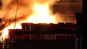 Evacuations over but highway remains closed after fire at Port Coquitlam, B.C., train yard