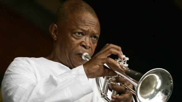 South African musician Hugh Masekela, shown performing during the 2006 New Orleans Jazz and Heritage Festival in New Orleans, has died following a lengthy cancer fight, his family said on Twitter on Tuesday.