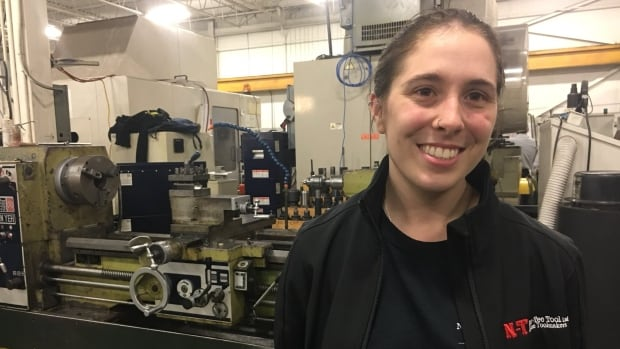 Sarah Pare graduated from St. Clair College's Skilled Trades Regional Training Centre program. She said she now has a skilled trades job that she loves.