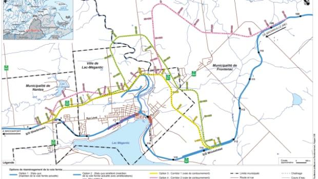 BAPE lac megantic rail bypass