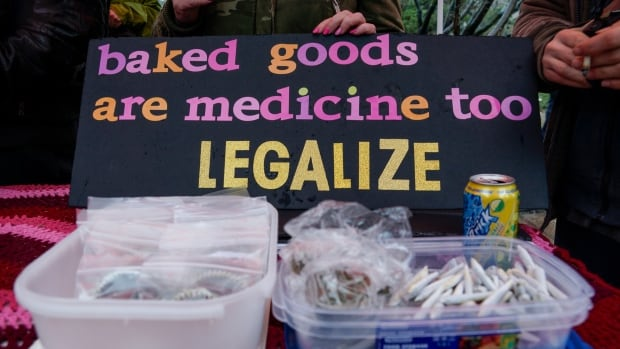 The vendors at Robson Square have been selling dried and edible cannabis illegally.