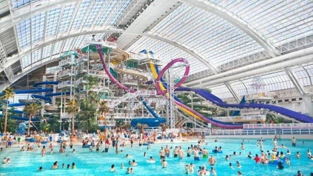 A teenage girl testified in court on Tuesday about being touched from behind in the wave pool at West Edmonton Mall's water park.