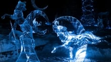 Ice Magic winner at ice sculpture festival in Lake Louise 2018