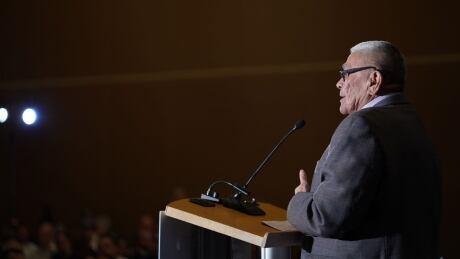 Chief Dr. Robert Joseph speaking at Roundup