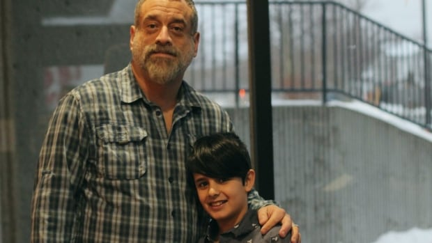 11-year-old Marios Al Bazi and his mentor/friend Peter Jackson moments before their interview with the St. John's Morning Show.