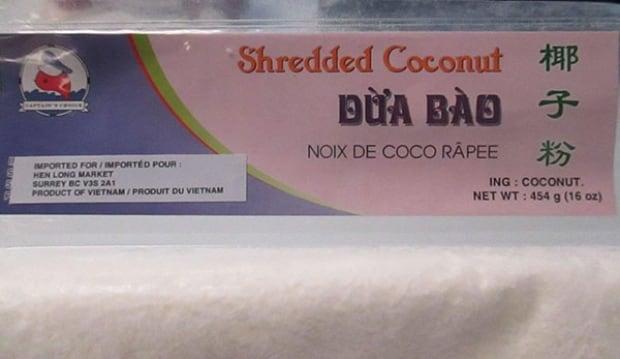Shredded coconut recall