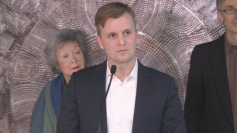 Coun. Joe Cressy unveiled plans for a new shelter set to open later this  year in the Annex, explaining the city has an 'urgent' need to increase  spaces.